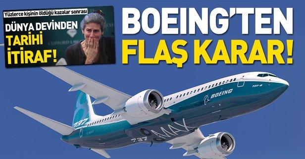 Boeing'ten flaş karar!