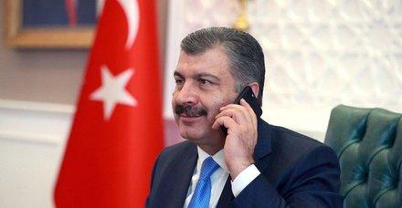 Sağlık Bakanı Fahrettin Koca, Kazakistan, Özbekistan ve Azerbaycan sağlık bakanlarıyla telefonda görüştü