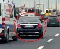 Ambulansa yol vermeyen magandanın cezası belli oldu
