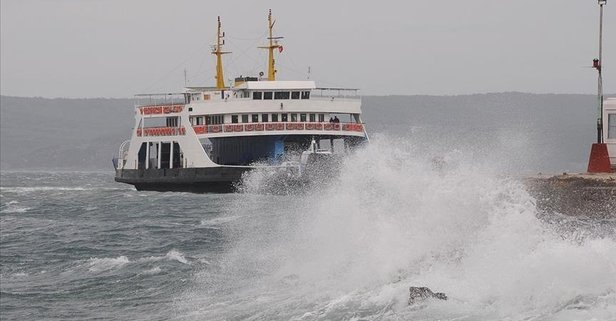 Deniz ulaşımına fırtına engeli!