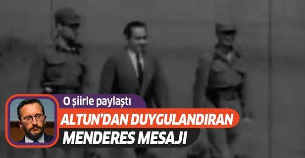 Altun'dan duygulandıran Adnan Menderes paylaşımı