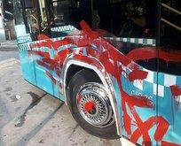 Otobüse alınmayan yolcunun yaptıkları pes dedirtti