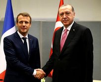 Macron'dan Erdoğan'a tebrik