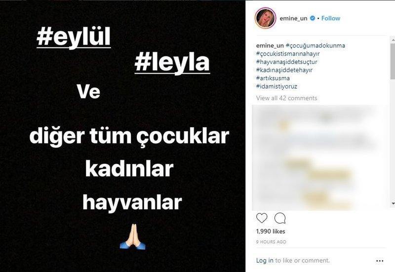 Ünlülerden Leyla Aydemir paylaşımı