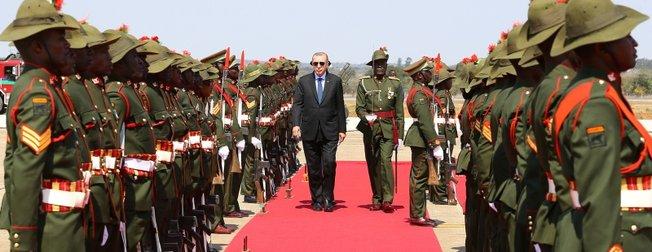Başkan Erdoğan Zambiya'da böyle karşılandı