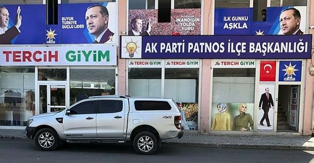 AK Parti ilçe başkanlığına molotoflu saldırı