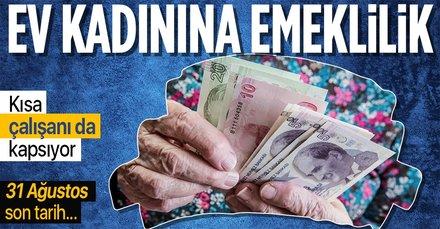 Ev kadınlarına kolay emeklilik