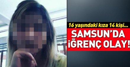 Samsunda 16 yaşındaki kıza cinsel istismar iddiasına 10 tutuklama