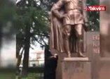 Tekirdağda Atatürk Anıtına baltalı saldırı