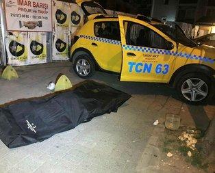 Son nefesini bindiği takside verdi