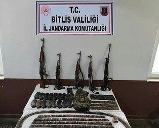 Son dakika: Bitlis'te uzun namlulu silahlar ve mühimmat ele geçirildi