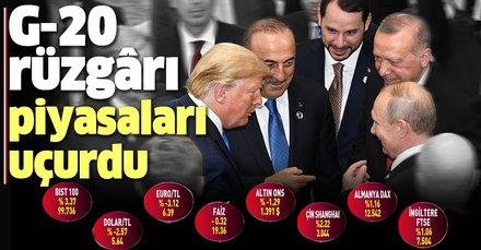 Türkiye'nin G-20 Zirvesi'ndeki olumlu temasları piyasaları uçurdu