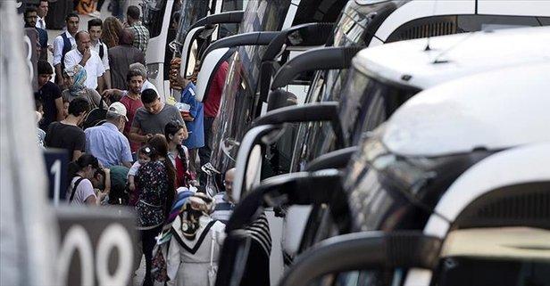 Şehirler arası otobüsler hazır