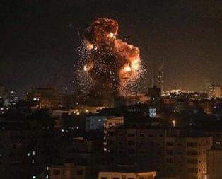 Katil İsrail Gazzeye saldırdı