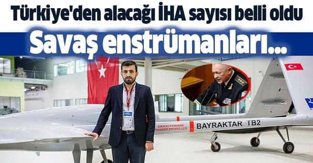 Türkiye'den alacağı İHA sayısı belli oldu
