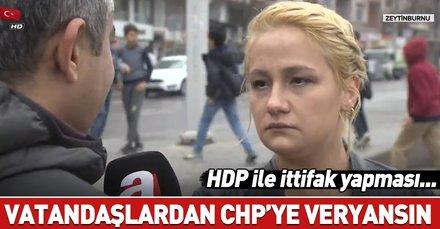 İstanbul Zeytinburnu'nda vatandaşlardan CHP'ye sert tepki!
