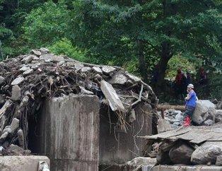 Trabzon Araklı'da sel felaketinin yarattığı yıkım gün yüzüne çıktı