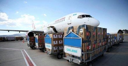 Dünyanın umudu Türkiye! Tıbbi yardım malzemeleri Kazakistan'a ulaştı