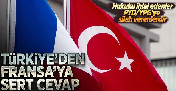 Türkiyeden Fransaya sert cevap