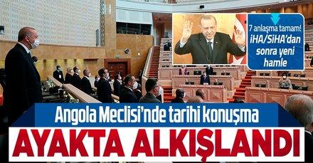 Başkan Erdoğan'dan Angola Meclisi'nde tarihi konuşma! Ayakta alkışlandı
