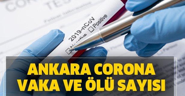 Ankara koronavirüs Kovid-19 vaka sayısı kaç oldu?