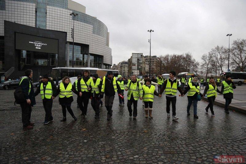 Fransa'daki Sarı Yelekliler'in eyleminde Gezi Parkı izleri