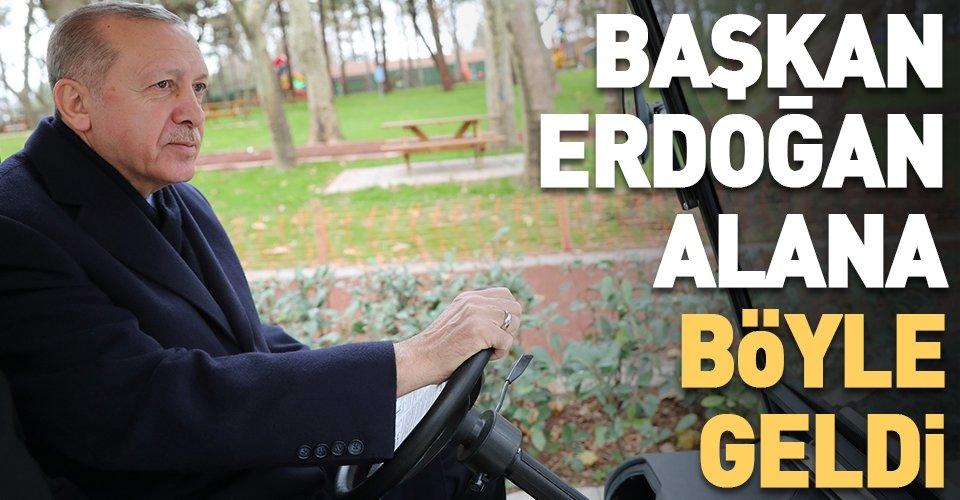 Başkan Erdoğan Millet Bahçesi'ni gezdi