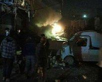 YPG/PKK'lı teröristlerden Afrin'e füzeli saldırı!