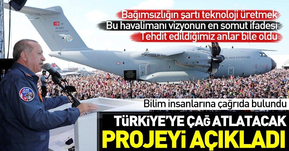 Başkan Erdoğan Teknofestte konuştu