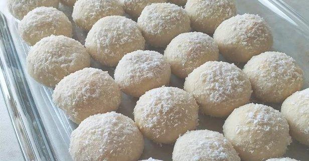 Hindistan cevizli kartopu kurabiye