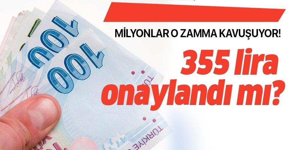 SSK, SGK ve Bağkur emekli maaşlarına 355 TL intibak zammı yasası onaylandı mı? İntibak ödeme tarihi son durum...