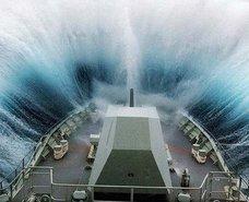 Denizde dehşet dolu dakikalar
