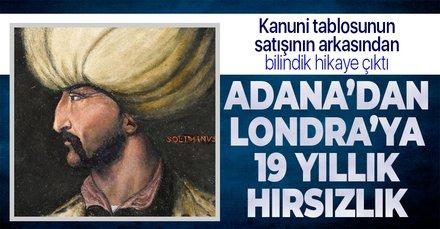 Kanuni Sultan Süleyman'ın tablosunun satıldığı müzayededen hırsızlık çıktı! 19 yıl önce Adana'dan çalınan İznik çinileri de katalog da yer almış
