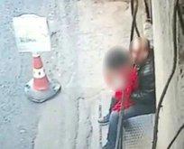 Trabzonda iğrenç olay! Küçük kıza taciz güvenlik kamerasında