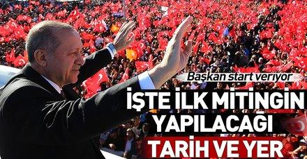 Başkan Erdoğan ilk mitingini Sivas'ta yapacak! Tarih belli oldu
