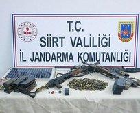 Teröristlere ait silah ve mühimmat ele geçirildi!