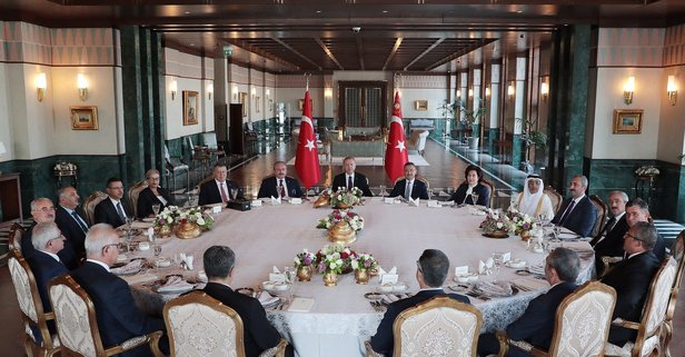 Başkan Erdoğan onur yemeğine katıldı