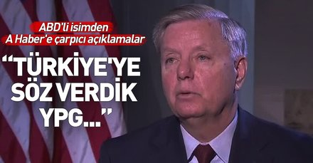 ABD'li senatör Graham: Türkiye'ye söz verdik YPG Münbiç'ten çekilecek