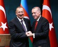 Erdoğan'dan Aliyev'e kutlama