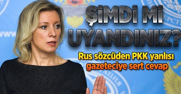 Rus sözcüden PKK yanlısı gazeteciye tokat gibi yanıt