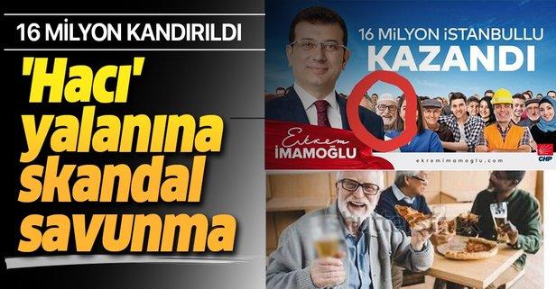 İmamoğlu'nun çalıntı posterine skandal savunma!