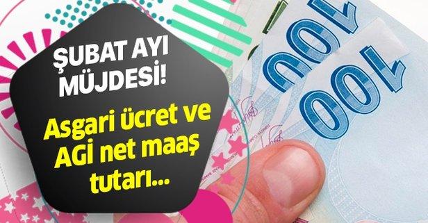 Şubat ayı müjdesi! Asgari ücret AGİ net-brüt zam tutarı kaç TL?