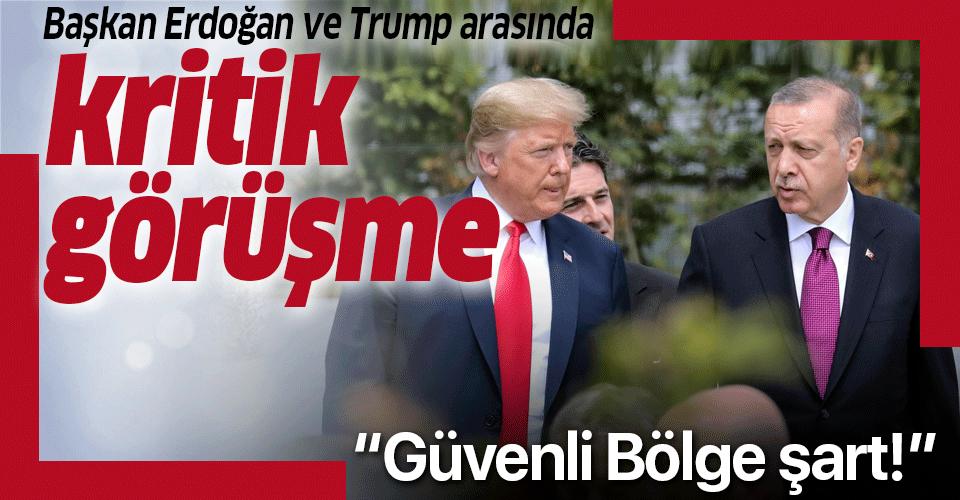 Son dakika: Başkan Erdoğan Trump ile telefonda görüştü