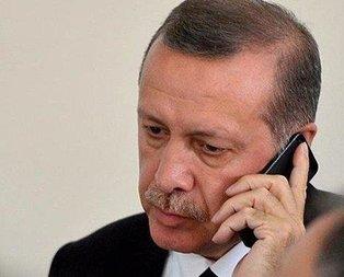Başkan'dan şehit ailelerine taziye telefonu