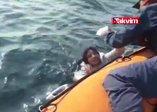 İzmirde denizde mahsur kalan mülteciler böyle kurtarıldı