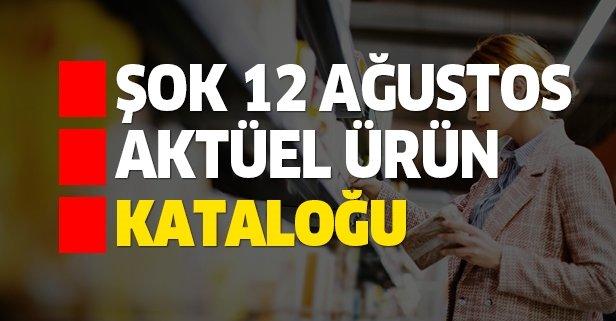 ŞOK 12 Ağustos aktüel kataloğu indirimlerle dolu!
