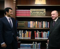 Başkan Erdoğan ve Al Sani Millet Kütüphanesi'ni ziyaret etti
