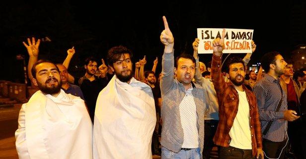 Ankara'da darbeci Mısır yönetimi protesto edildi