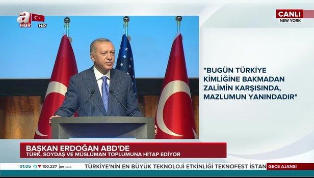 Son dakika: Başkan Erdoğan'dan ABD'de tarihi sözler