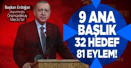 Önümüzdeki ay Meclis'e sunulacak! 9 ana başlık 81 eylem!